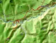 恵岱岳地図 渡渉2
