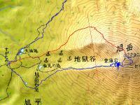 旭岳4月1地図