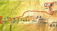 旭岳と熊ヶ岳4月1地図予定