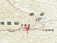 旭岳4月1地図下り迷った