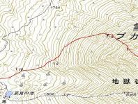 旭岳4月1地図岩の場所
