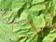神居尻山 カシミール地図