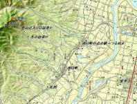 浦臼山 カシミール地図 広域
