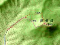 黄金山 カシミール地図 こがね 特殊な地形だ