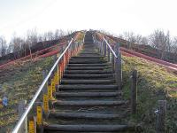 ズリ山階段 頂上まであと少し