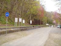 神居古潭 kamuy-kotan サイクリングロード むこうから子供達が。旭川までつながっているのかな?