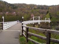 神居古潭 kamuy-kotan 石狩川を渡る橋