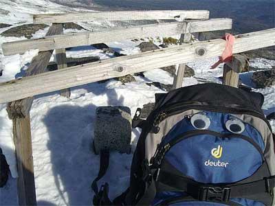 十勝岳 境山の頂上に着きま