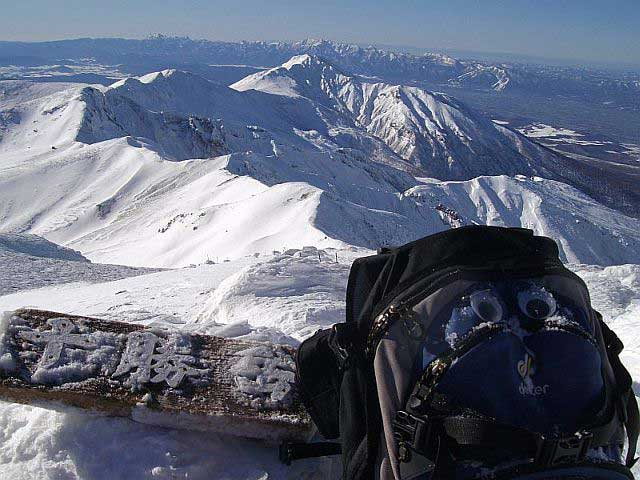 十勝岳 十勝岳頂上 冬のはじまり
