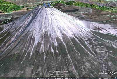 Google-Earth 富士山の完成