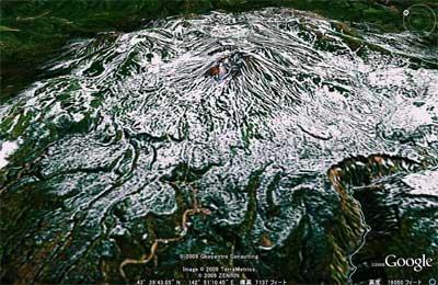 Google-Earth北海道 大雪山 ちょっと使えないかな。
