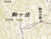 4越後駒ヶ岳 tizu