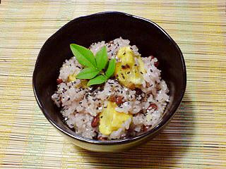 秋-味覚-くり-栗-ごはん-おこわ-赤飯-手作り-レシピ