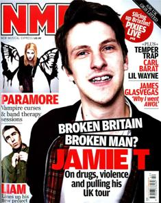 Jamie T  - cover - NME (New Musical Express) - 17.10.09