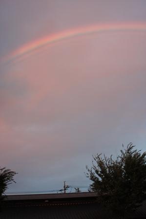 9月21日 夕方の虹