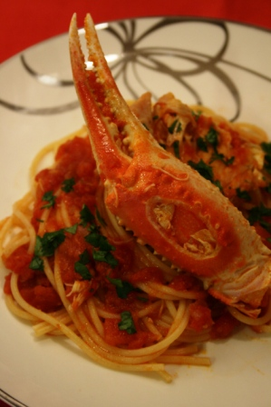 ずわい蟹のスパゲッティ web