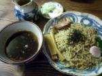 熊人 醤油つけ麺