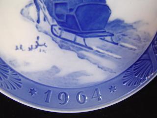 ロイヤルコペンハーゲンイヤープレート1964-2
