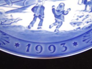 ロイヤルコペンハーゲンイヤープレート1993年-2