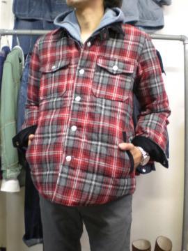 ダウンシャツジャケット