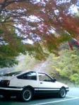 紅葉とハチロク2