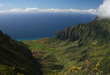 Puuokila 展望台から見えるカララウ谷