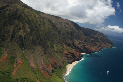 Helicopter からのNapali 海岸