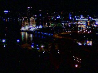 2008 長崎帆船ライトアップ(スカイロード頂上)