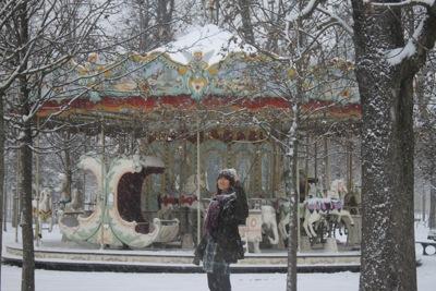 パリ 雪5