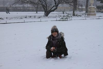 パリ 雪8