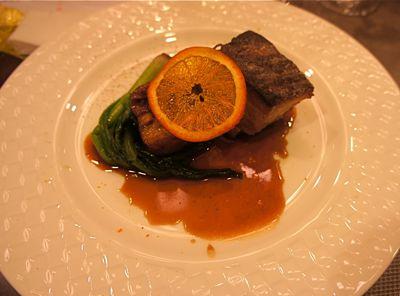 豚バラ肉のオレンジ赤ワイン煮