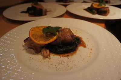 豚バラ肉のオレンジソース 3