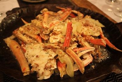蟹の焦がしバターソース