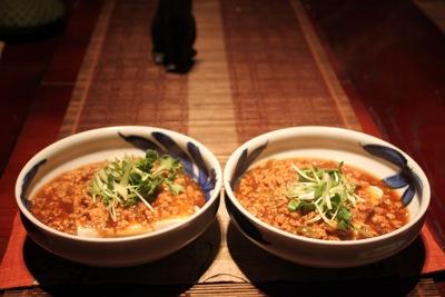 マーボー湯豆腐