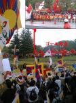 長野聖火リレーゴール地点NHKと実際画像