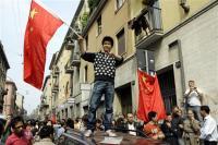 中国ミラノ暴動1