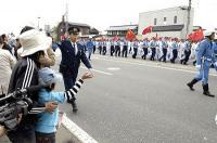 北京五輪長野聖火リレーの沿道写真