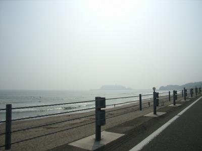 江ノ島が見えてきた
