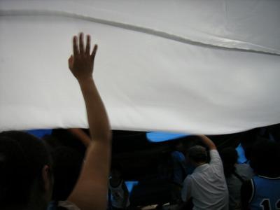 みんなで旗をわさわさ