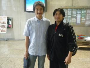 長島龍人さんと名古屋中日ビルにて