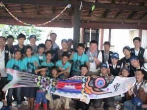 カンボジア孤児院にて