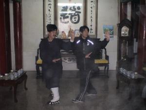 中国 武当山で武当八卦掌のトレーニングを受ける