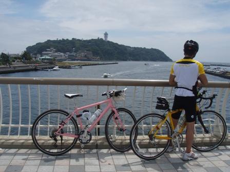 blog_江の島とアッカ君200609