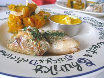 いとより鯛のバターソテー キッシュ 粉吹きカボチャ3