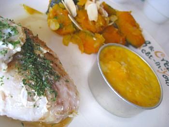 いとより鯛のバターソテー キッシュ 粉吹きカボチャ6