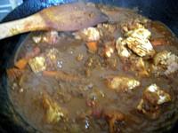 チキンと夏野菜のインドカリー9