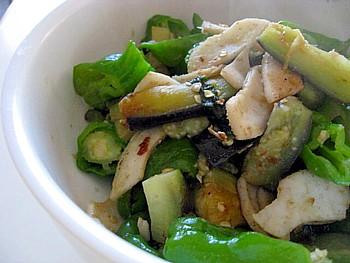 イカと夏野菜の炒め物2