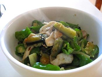 イカと夏野菜の炒め物3