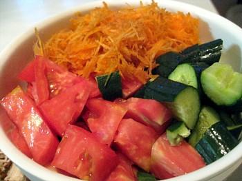 スタミナ 緑黄色野菜とチキンカツ3