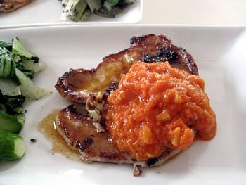 ポークのオニオン トマトソース8